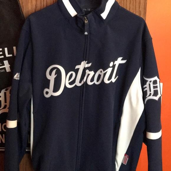 release date c0ff6 af50c Men's Majestic Detroit Tigers Jacket